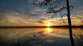 Ηλιοβασίλεμα στη Βαυαρία Στοκ Φωτογραφία