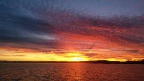 Ηλιοβασίλεμα στη Βαυαρία Στοκ Φωτογραφίες