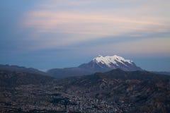 Ηλιοβασίλεμα στη Βολιβία στοκ εικόνες