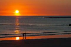 Ηλιοβασίλεμα στη Βόρεια Θάλασσα Στοκ φωτογραφία με δικαίωμα ελεύθερης χρήσης