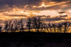 Ηλιοβασίλεμα στη δεξαμενή του Τζάκσον Στοκ εικόνα με δικαίωμα ελεύθερης χρήσης