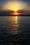 Ηλιοβασίλεμα στη Ερυθρά Θάλασσα στην Αίγυπτο, κάθετη Στοκ φωτογραφία με δικαίωμα ελεύθερης χρήσης