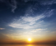 Ηλιοβασίλεμα στη θάλασσα Στοκ εικόνα με δικαίωμα ελεύθερης χρήσης