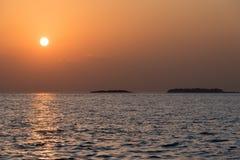 Ηλιοβασίλεμα στη θάλασσα στοκ εικόνες με δικαίωμα ελεύθερης χρήσης