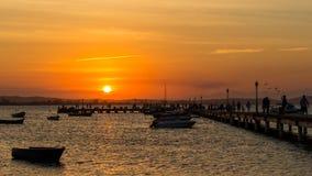 Ηλιοβασίλεμα στη θάλασσα Στοκ Φωτογραφία