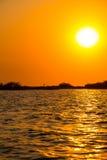 Ηλιοβασίλεμα στη λιμνοθάλασσα Cordoncillo, Λα Παζ, Ελ Σαλβαδόρ Στοκ φωτογραφία με δικαίωμα ελεύθερης χρήσης