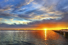 Ηλιοβασίλεμα στη μαρίνα Στοκ φωτογραφίες με δικαίωμα ελεύθερης χρήσης