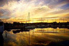 Ηλιοβασίλεμα στη Σουηδία! Στοκ εικόνες με δικαίωμα ελεύθερης χρήσης