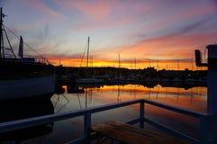 Ηλιοβασίλεμα στη Σουηδία! Στοκ εικόνα με δικαίωμα ελεύθερης χρήσης