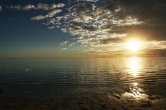 Ηλιοβασίλεμα στη δυτική Αυστραλία Exmouth στοκ εικόνα με δικαίωμα ελεύθερης χρήσης
