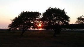 Ηλιοβασίλεμα στη Gotland Στοκ Εικόνες