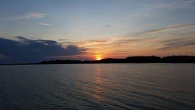 Ηλιοβασίλεμα στη Gotland Στοκ Φωτογραφίες