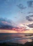 Ηλιοβασίλεμα στη Tyrrhenian θάλασσα Στοκ Εικόνες