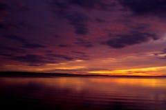 Ηλιοβασίλεμα στις λίμνες Gippsland Στοκ Εικόνες
