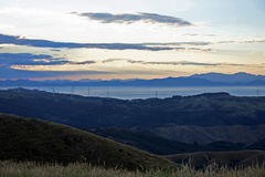 Ηλιοβασίλεμα στις KAU KAU υποστηριγμάτων, Ουέλλινγκτον, Νέα Ζηλανδία Στοκ φωτογραφίες με δικαίωμα ελεύθερης χρήσης