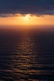 Ηλιοβασίλεμα στον Ατλαντικό Ωκεανό στο ακρωτήριο Cabo DA Roca Στοκ φωτογραφία με δικαίωμα ελεύθερης χρήσης