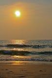 Ηλιοβασίλεμα στον Ινδικό Ωκεανό Στοκ εικόνες με δικαίωμα ελεύθερης χρήσης