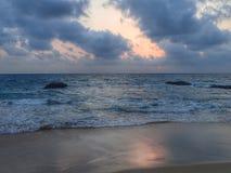 Ηλιοβασίλεμα στον Ινδικό Ωκεανό Στοκ Εικόνες