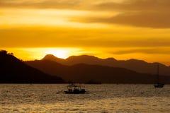 Ηλιοβασίλεμα στον κόλπο Στοκ Εικόνα