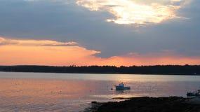 Ηλιοβασίλεμα στον ορίζοντα Στοκ Εικόνες