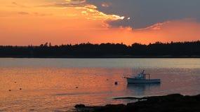 Ηλιοβασίλεμα στον ορίζοντα Στοκ φωτογραφία με δικαίωμα ελεύθερης χρήσης