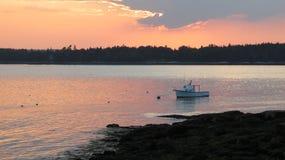 Ηλιοβασίλεμα στον ορίζοντα Στοκ Εικόνα