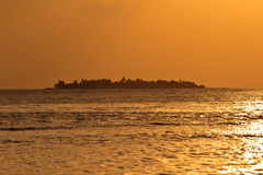 Ηλιοβασίλεμα στον παράδεισο Στοκ Εικόνα