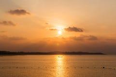 Ηλιοβασίλεμα στον ωκεανό Στοκ φωτογραφία με δικαίωμα ελεύθερης χρήσης