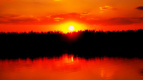 Ηλιοβασίλεμα στο δέλτα Στοκ φωτογραφίες με δικαίωμα ελεύθερης χρήσης