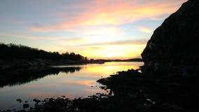 Ηλιοβασίλεμα στο Βορρά Στοκ εικόνα με δικαίωμα ελεύθερης χρήσης