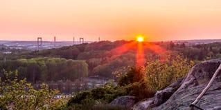 Ηλιοβασίλεμα στο βοτανικό κήπο - Γκέτεμπουργκ, Σουηδία Στοκ Εικόνα