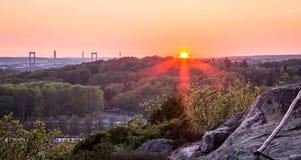 Ηλιοβασίλεμα στο βοτανικό κήπο - Γκέτεμπουργκ, Σουηδία Στοκ Φωτογραφία