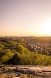 Ηλιοβασίλεμα στο βοτανικό κήπο - Γκέτεμπουργκ, Σουηδία Στοκ φωτογραφία με δικαίωμα ελεύθερης χρήσης