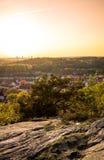 Ηλιοβασίλεμα στο βοτανικό κήπο - Γκέτεμπουργκ, Σουηδία Στοκ εικόνες με δικαίωμα ελεύθερης χρήσης