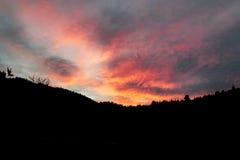 Ηλιοβασίλεμα στο βουνό Στοκ εικόνες με δικαίωμα ελεύθερης χρήσης