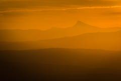 Ηλιοβασίλεμα στο βουνό Peñagolosa Στοκ εικόνα με δικαίωμα ελεύθερης χρήσης