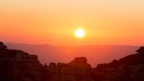 Ηλιοβασίλεμα στο βουνό Torcal Antequera, Μάλαγα Στοκ φωτογραφία με δικαίωμα ελεύθερης χρήσης