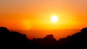Ηλιοβασίλεμα στο βουνό Torcal Antequera, Μάλαγα Στοκ Φωτογραφίες