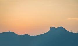 Ηλιοβασίλεμα στο βράχο λιονταριών Στοκ φωτογραφίες με δικαίωμα ελεύθερης χρήσης