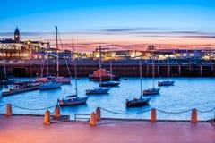 Ηλιοβασίλεμα στο Δουβλίνο, Ιρλανδία Στοκ εικόνα με δικαίωμα ελεύθερης χρήσης