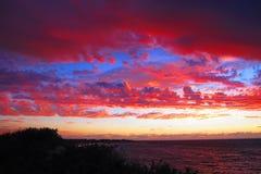 Ηλιοβασίλεμα στο εθνικό πάρκο σειράς ακρωτηρίων, δυτική Αυστραλία Στοκ Εικόνες