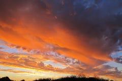 Ηλιοβασίλεμα στο εθνικό πάρκο σειράς ακρωτηρίων, δυτική Αυστραλία Στοκ Φωτογραφία