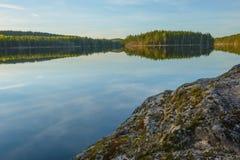 Ηλιοβασίλεμα στο εθνικό πάρκο Στοκ Φωτογραφίες
