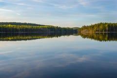 Ηλιοβασίλεμα στο εθνικό πάρκο Στοκ Εικόνα