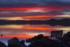 Λιμενικό ηλιοβασίλεμα άμμου Στοκ Φωτογραφία