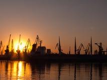 Ηλιοβασίλεμα στο λιμένα Στοκ φωτογραφίες με δικαίωμα ελεύθερης χρήσης