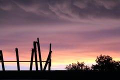Ηλιοβασίλεμα στο λιμένα Neches Τέξας Στοκ εικόνα με δικαίωμα ελεύθερης χρήσης