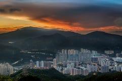 Ηλιοβασίλεμα στο κορνάρισμα Kong στοκ φωτογραφίες