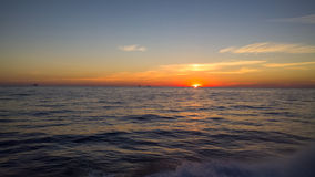 Ηλιοβασίλεμα στο Κόλπο στοκ εικόνα με δικαίωμα ελεύθερης χρήσης