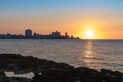 Ηλιοβασίλεμα στο Λα Habana Στοκ Εικόνες